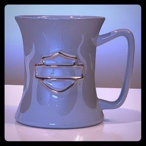 {Harley Davidson} - Ceramic Flames Logo Mug